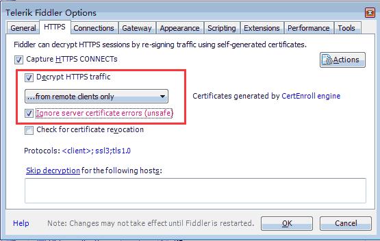 配置HTTPS选项